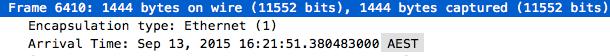 wireshark timestamp display